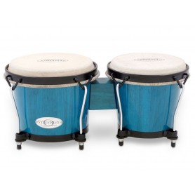 "TOCA 2100 Bahama Blue Bongos in legno 6+7"""