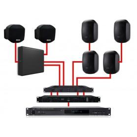 APART Sistema Audio Completo Nero 540W
