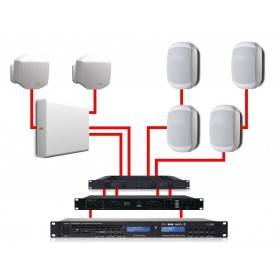 APART Sistema Audio Completo Bianco 540W