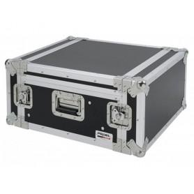 """PROEL Flight Case 6 Unità Rack 19"""" con Supporto Mixer Inclinabile"""