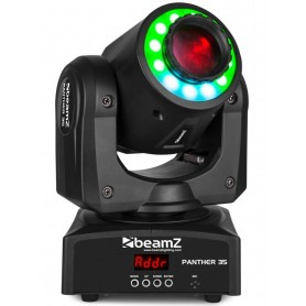 BEAMZ Panther 35 Led Spot Moving Head + LED Ring
