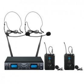 ZZIPP TXZZ624 Set Radiomicrofoni con 2 Archetti UHF 16CH