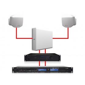 Apart Impianto Filodiffusione Stereo 2 MASK2/1 SUBLIME White 260W