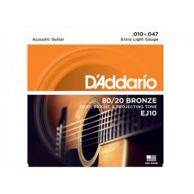 D'ADDARIO EJ10 80/20 Bronze 010/047