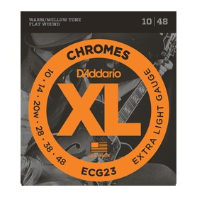 D'ADDARIO ECG23 Chromes Flat Wound Extra Light 10-48