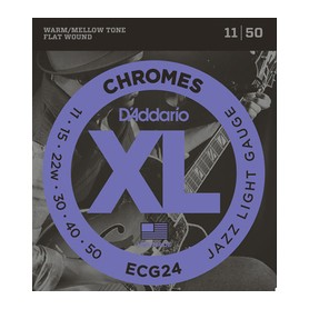 D'ADDARIO ECG24 Chromes Flat Wound Jazz Light 11-50