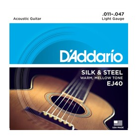 D'ADDARIO EJ40 Silk & Steel Folk 11-47