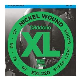 D'ADDARIO EXL220 Nickel Wound Bass Super Light 040-095 Long Scale