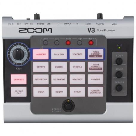 Zoom V3 Processore Vocale Multieffetto per Voce Usb