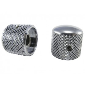 ERNIE BALL Tele-Style Knobs Chrome Plated Brass (set of 2)