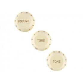 FENDER Stratocaster Soft Touch Knobs Aged White