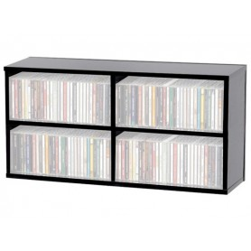 GLORIOUS CD Box 180 Black RACCOGLITORE IN LEGNO NERO PER 180 CD