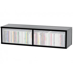 GLORIOUS CD Box 90 Black RACCOGLITORE IN LEGNO NERO PER 90 CD