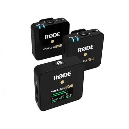 RODE Wireless GO II un ricevitore  due trasmettitori con microfono
